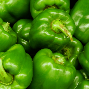 green peppers at Harvest Barn Country Market